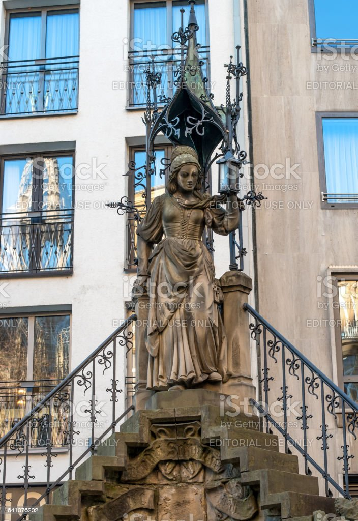 Cologne, Germany - January 19, 2017: Detail of the popular Cologne fountain, which is associated with the legend of the industrious dwarfs. stock photo
