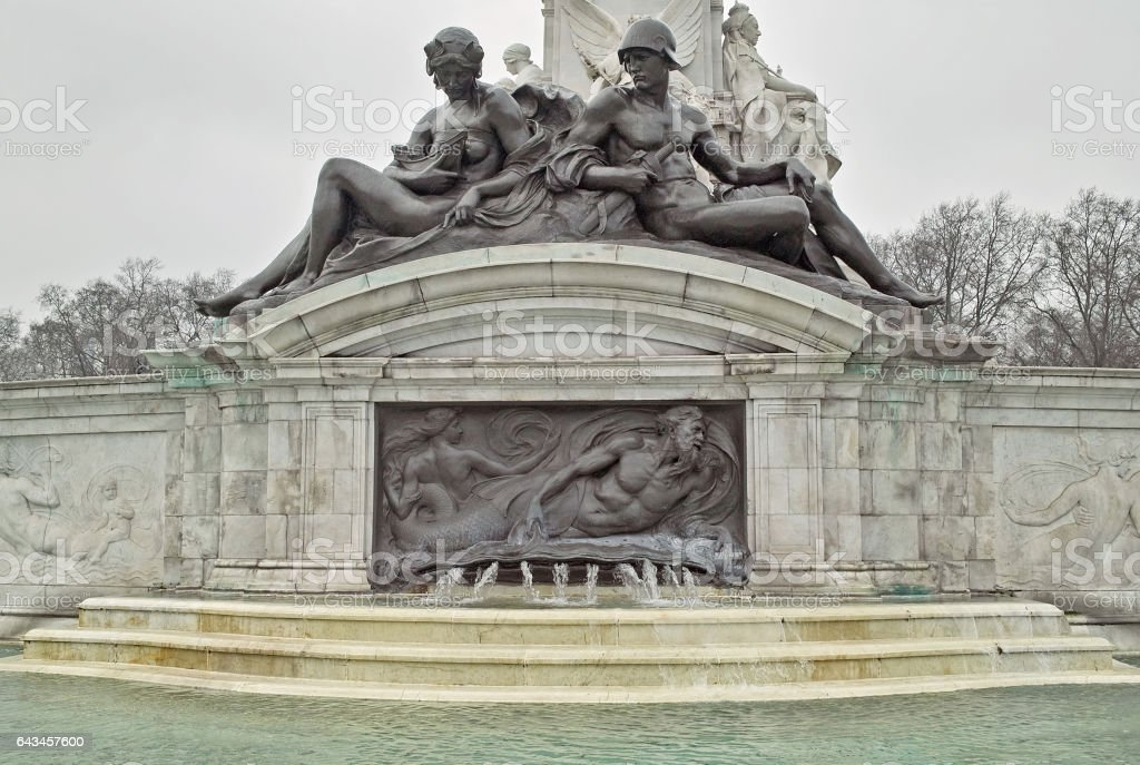 detail of the queen victoria memorial, london stock photo