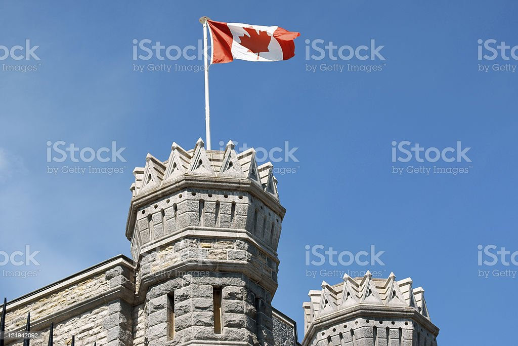 Detail of the Royal Canadian Mint in Ottawa stock photo