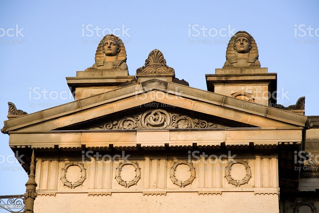 Detail of the RSA building in Edinburgh royalty-free stock photo