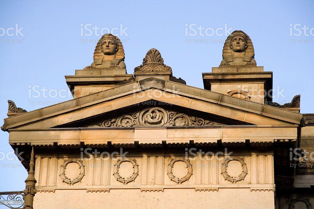 Detail of the RSA building in Edinburgh stock photo