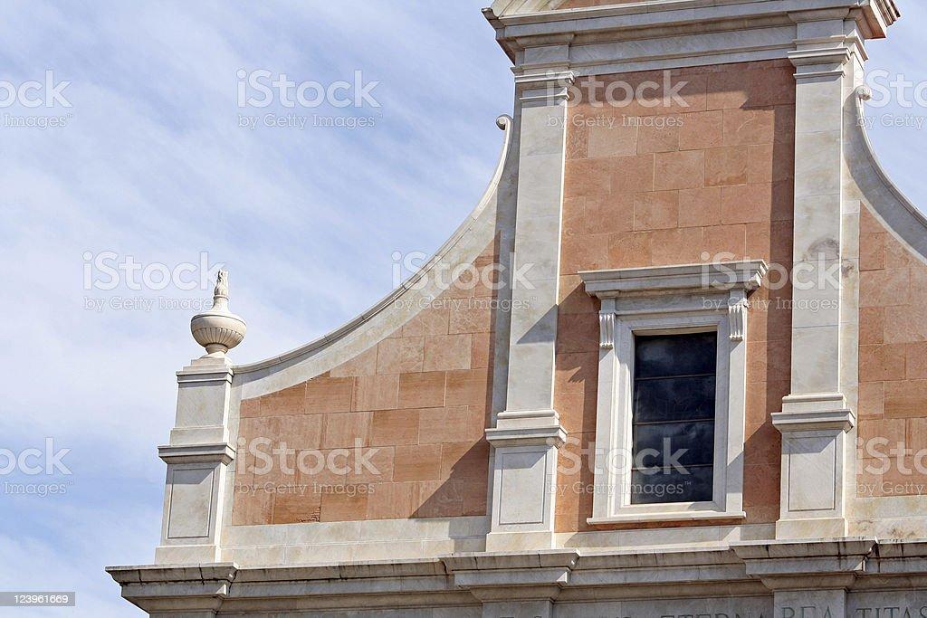 Detail of the San Francesco Church in Lerici, Italy stock photo