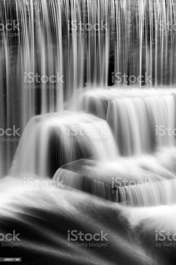 Detail of the Seeley's Pond waterfall, in New Jersey stock photo
