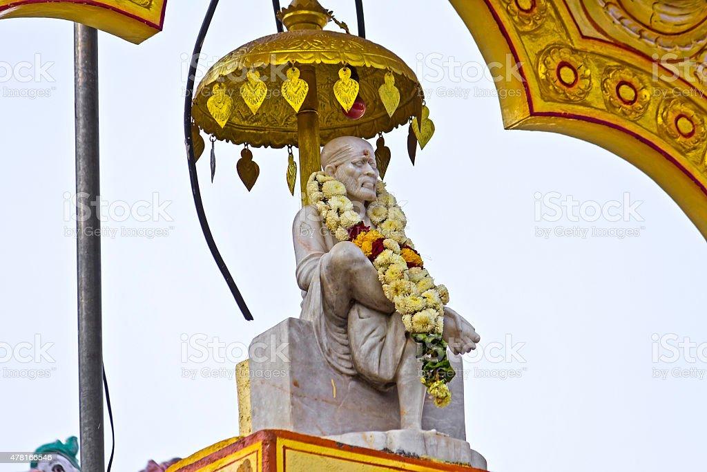 Detail of the Shirdi Sai temple in Chennai stock photo