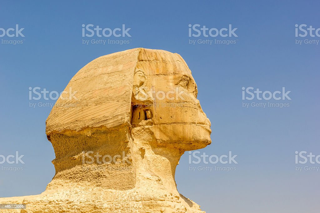 detail of the Sphinx Giza stock photo