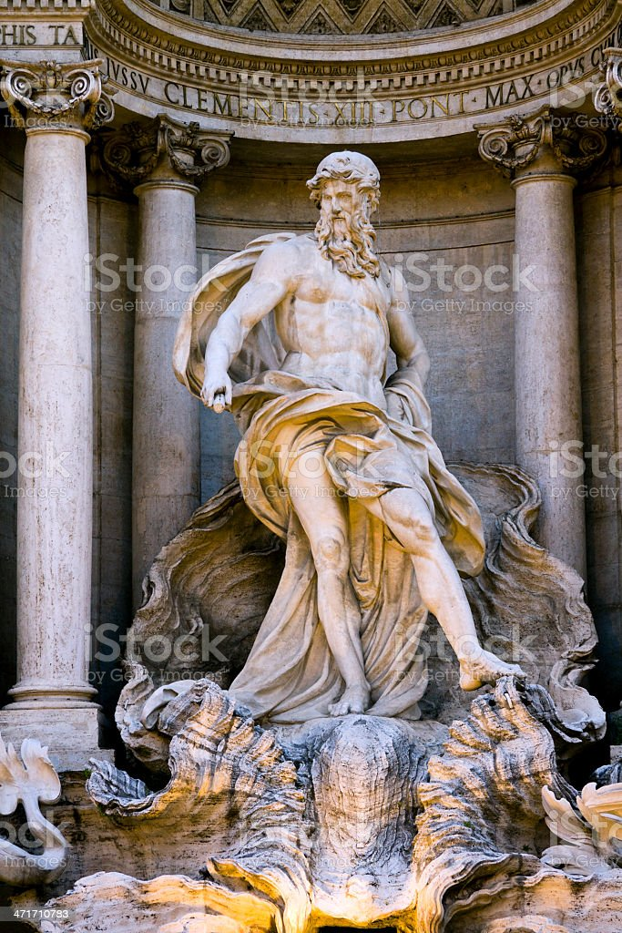 Detail of the 'Trevi Fountain' in Rome, Italy royalty-free stock photo