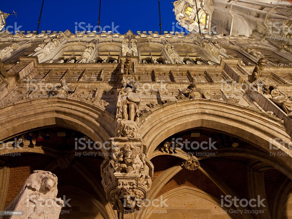 Detail of Town Hall, Brussels, Belgium royalty-free stock photo