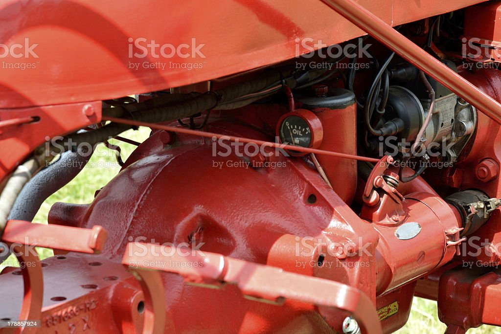 Detail of tractor Engine royalty-free stock photo