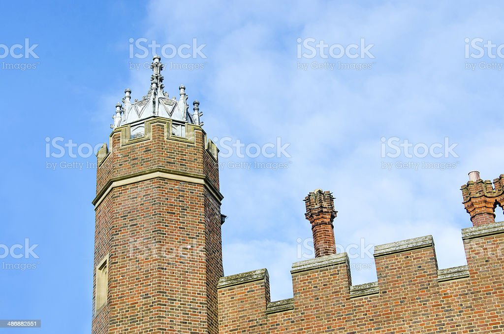 detail of traditional building style stock photo