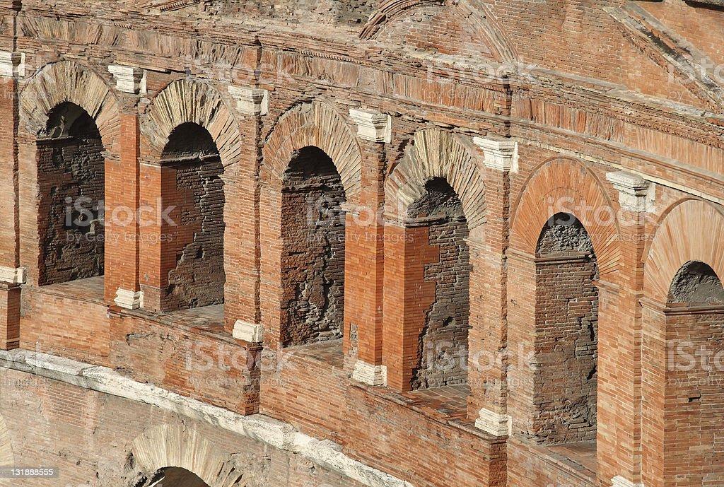 Detail of Trajan's Forum, Rome stock photo
