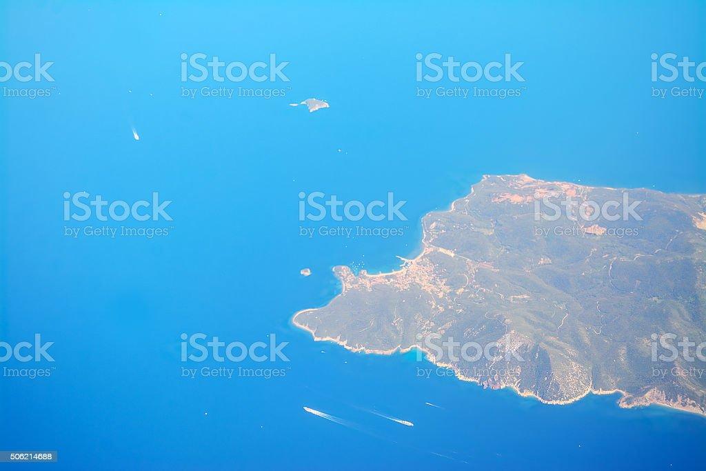 detail of  Tuscany coastline stock photo