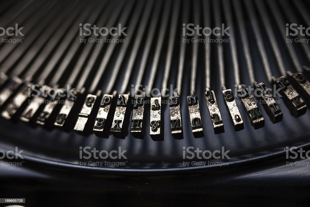 Detail of Type Bars royalty-free stock photo