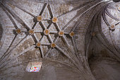 Detail of vault of Cathedral of Cuenca, Spain