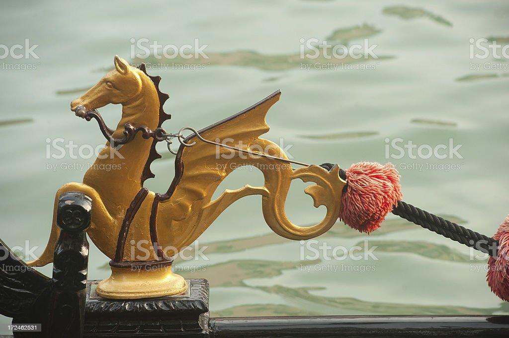 Detail of Venice Gondola royalty-free stock photo