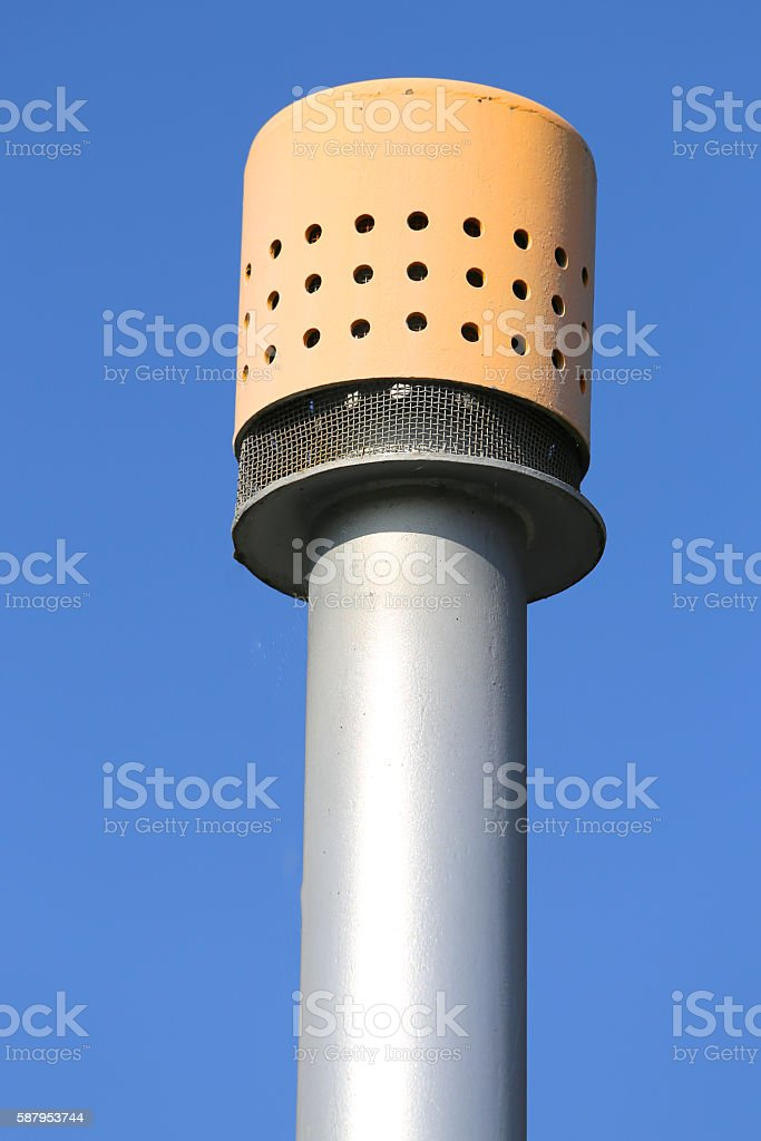 detail of vent pipe stock photo