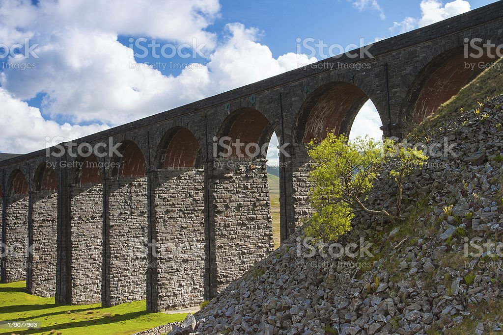 Detail of viaduct in England stock photo