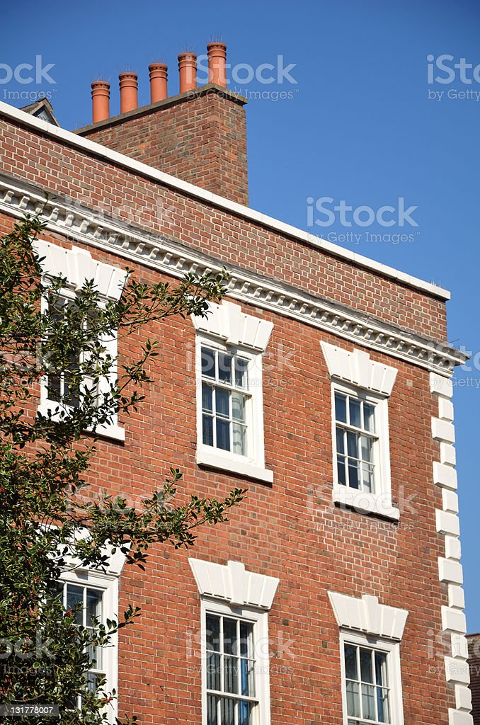Detail of Victorian Building Exterior in Chester royalty-free stock photo