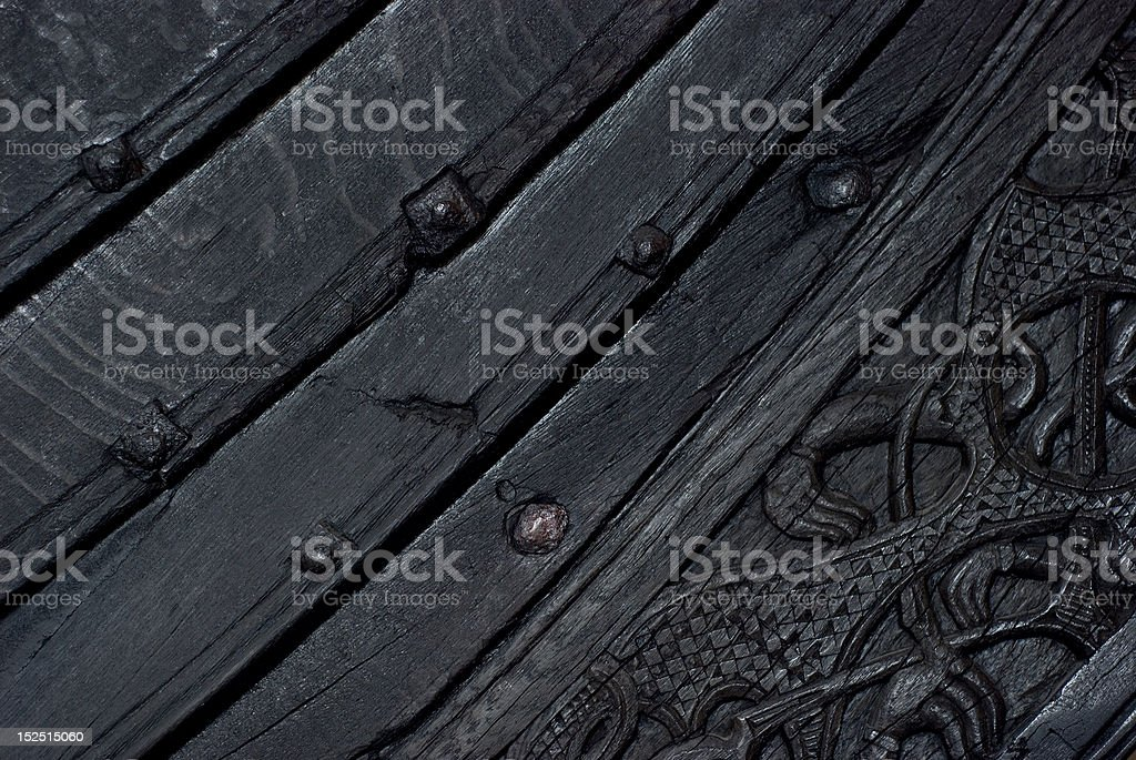 Detail of viking ship stock photo