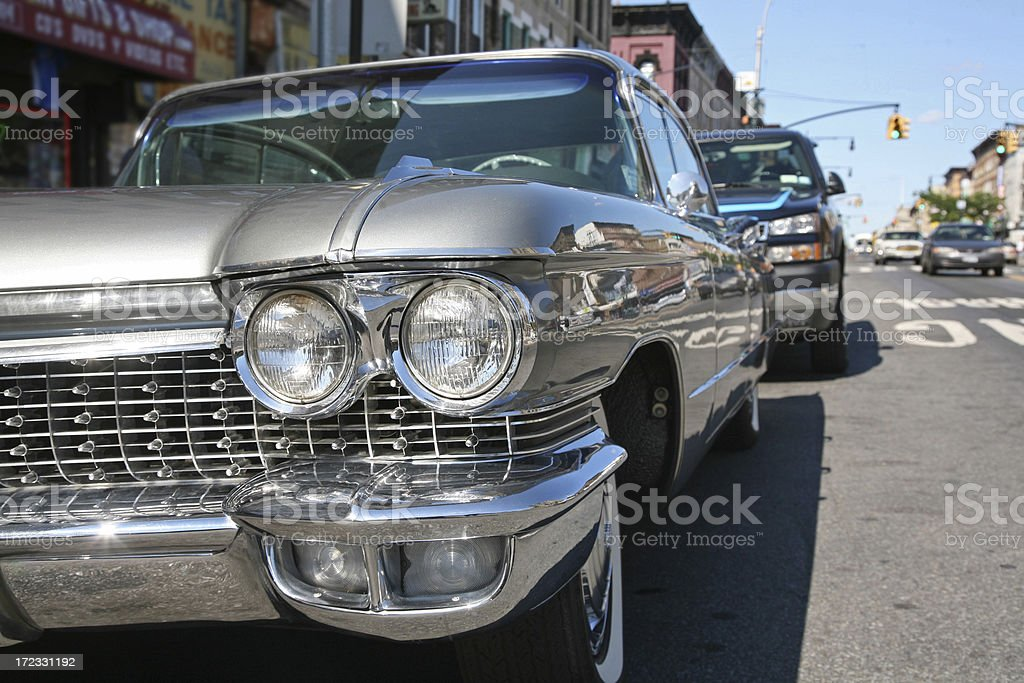 Detail of Vintage 1950s Car royalty-free stock photo