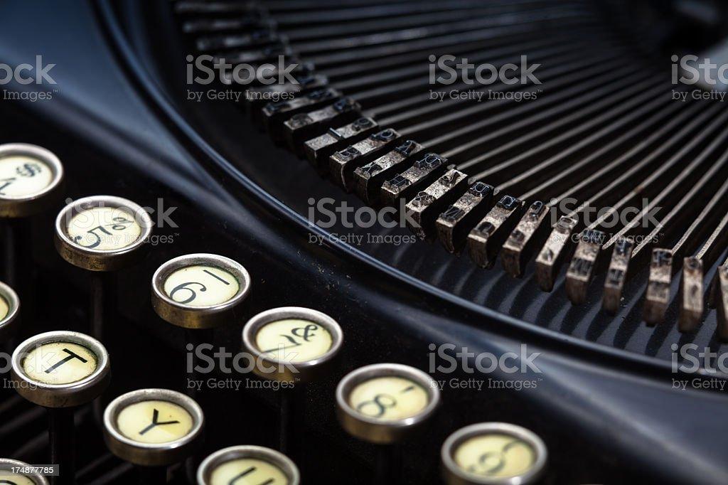 Detail of Vintage Mechanical Typewriter royalty-free stock photo
