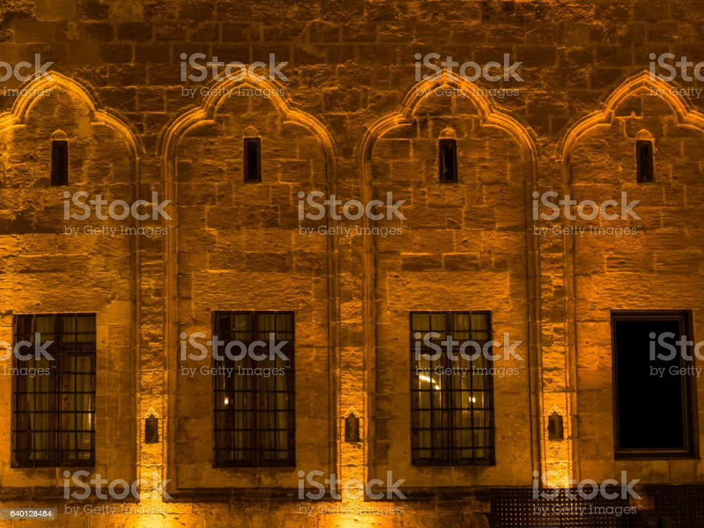 Detail Of Wall From A Public Building In Mardin, Turkey stock photo