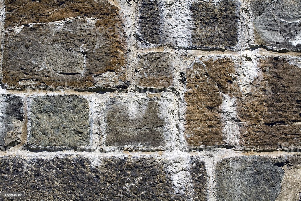 Detail of wall in Quebec City royalty-free stock photo