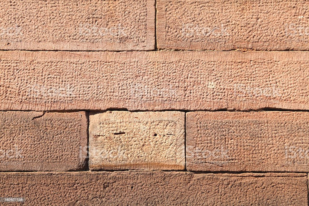 detail of wall made with sandstone royalty-free stock photo