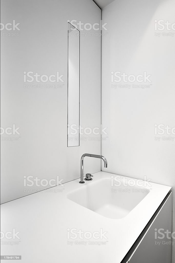 detail of washbasin in the bathroom royalty-free stock photo