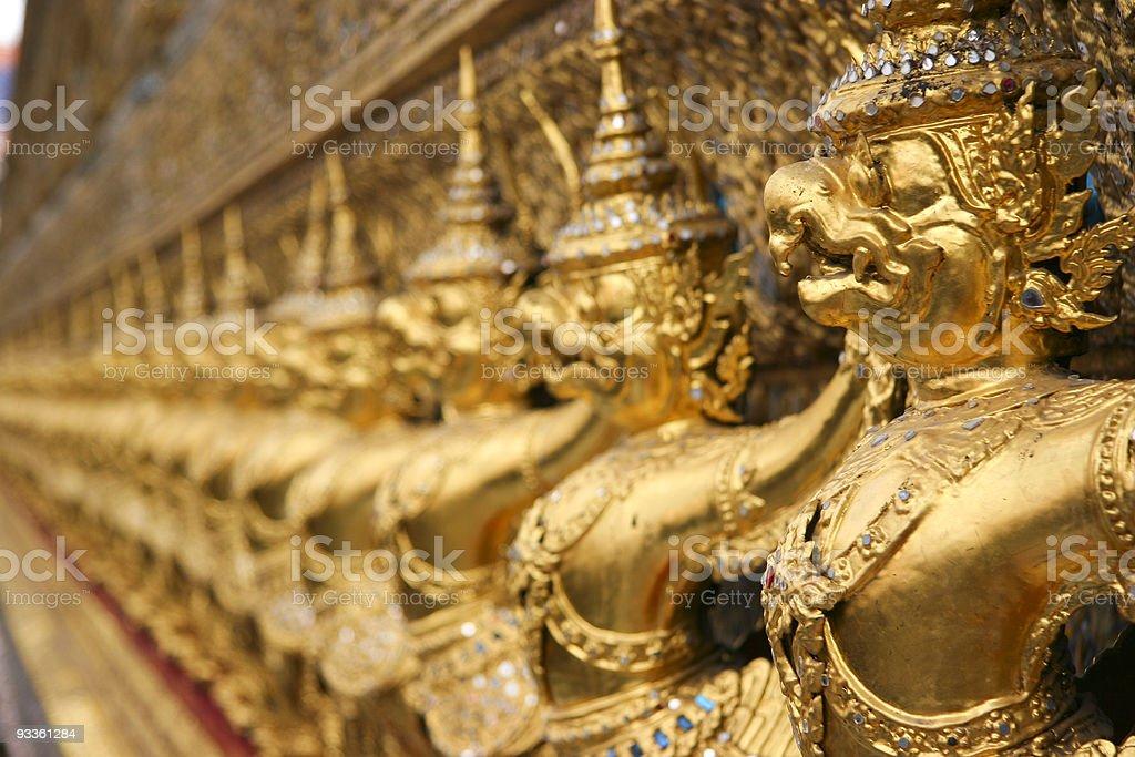 Detail of  Wat Phra Kaew, Bangkok royalty-free stock photo