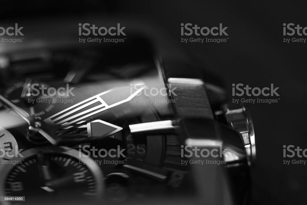 detail of watch stock photo