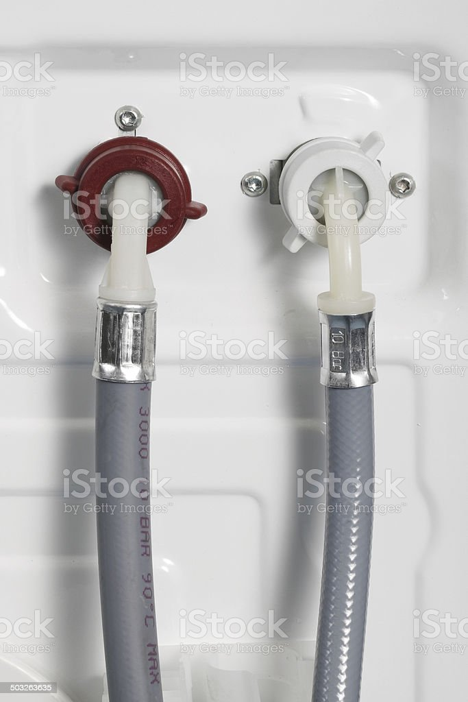 Detail of water attachment stock photo