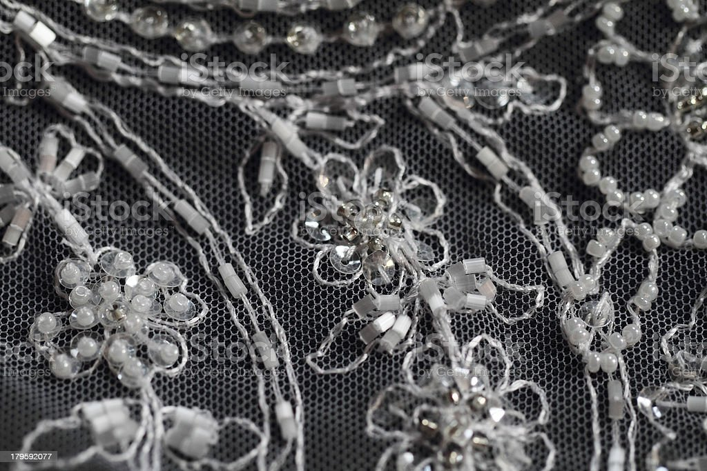 Detail of wedding dress royalty-free stock photo