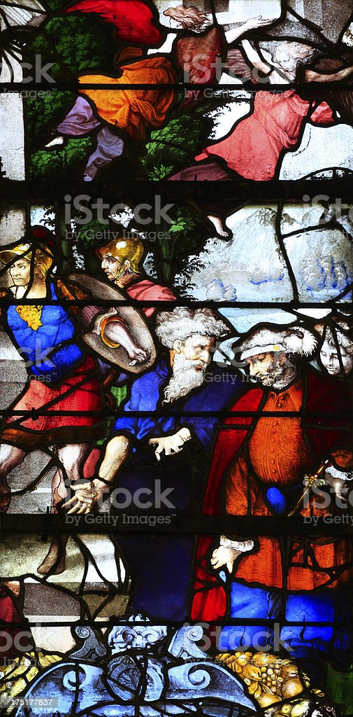 Detail of window Santa Casa royalty-free stock photo