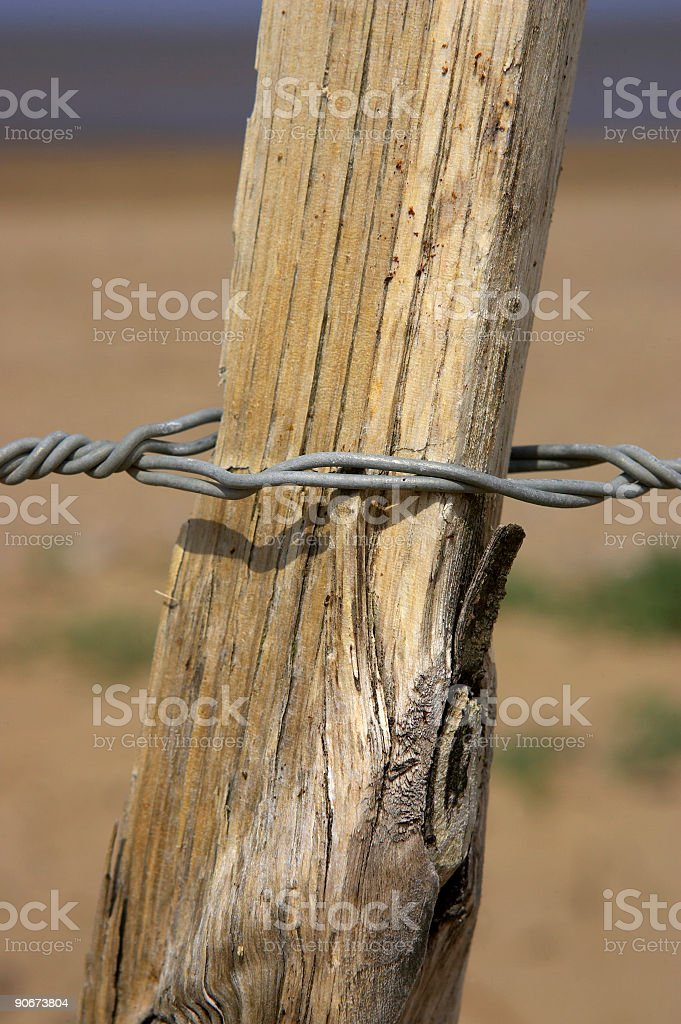 Detail of wooden picket fence, sand point beach England uk royalty-free stock photo