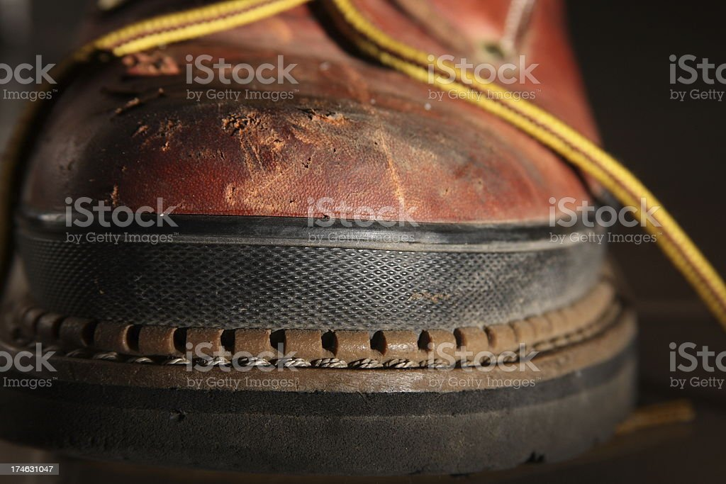 Detail of Work Boot royalty-free stock photo