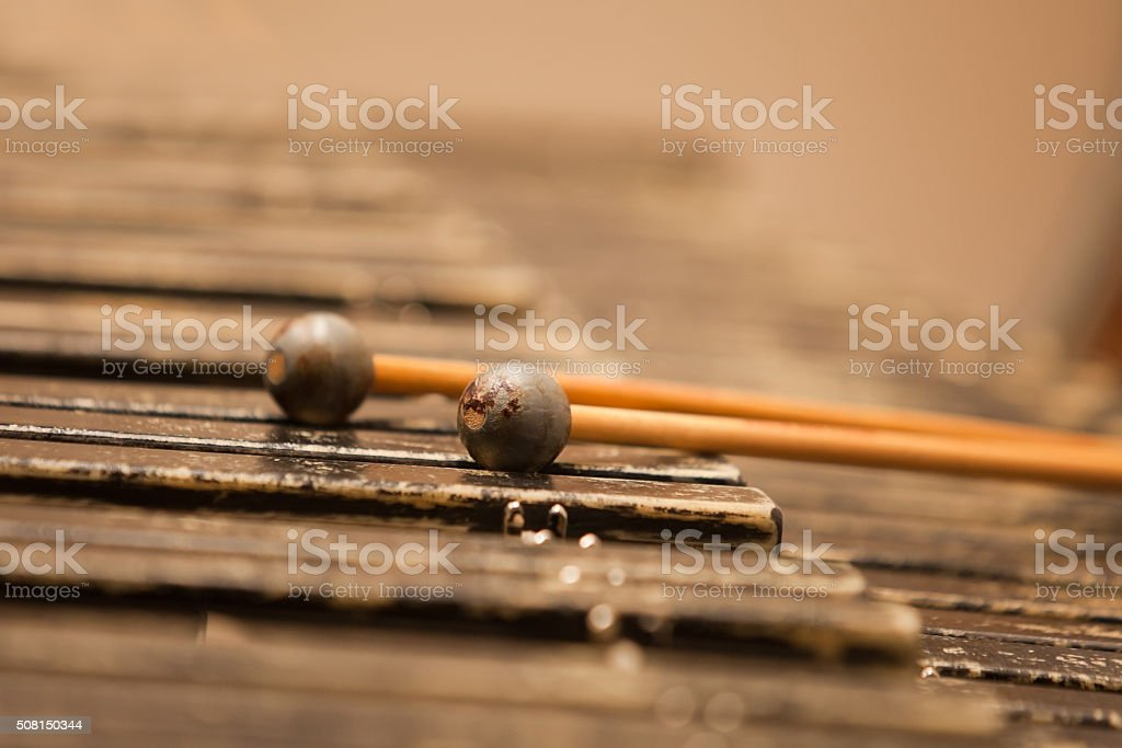 Detail of xylophone closeup stock photo