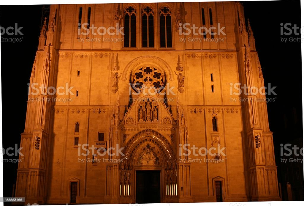 Detail of Zagreb Cathedral,Croatia 1 stock photo