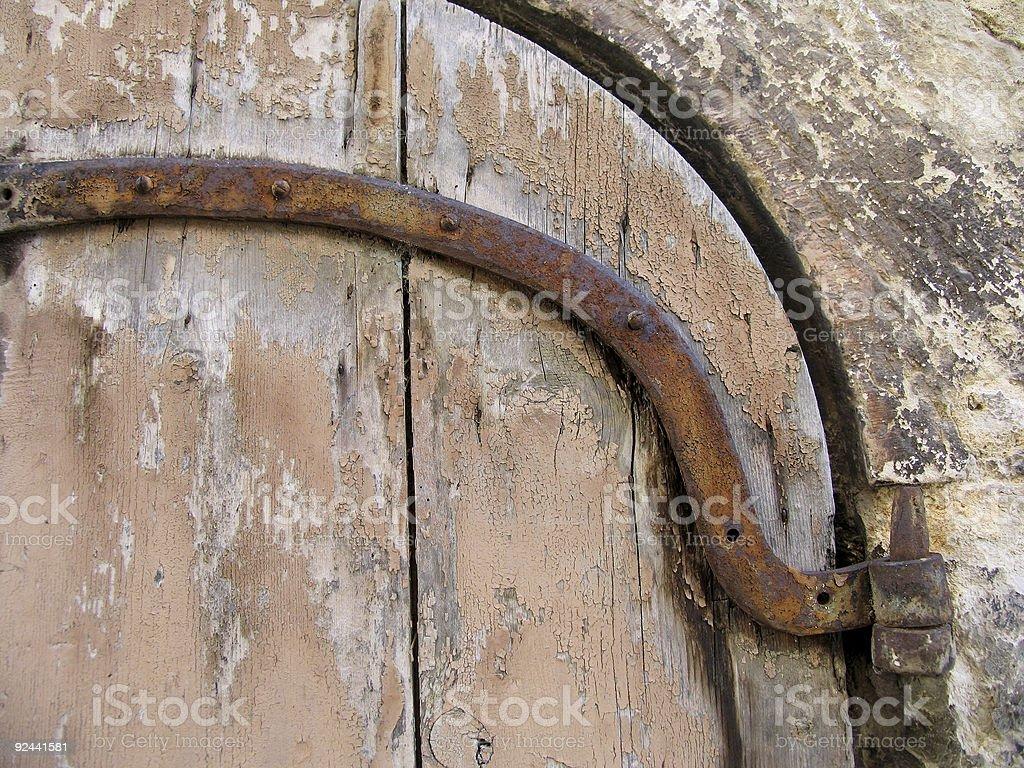 Detail old wooden door royalty-free stock photo