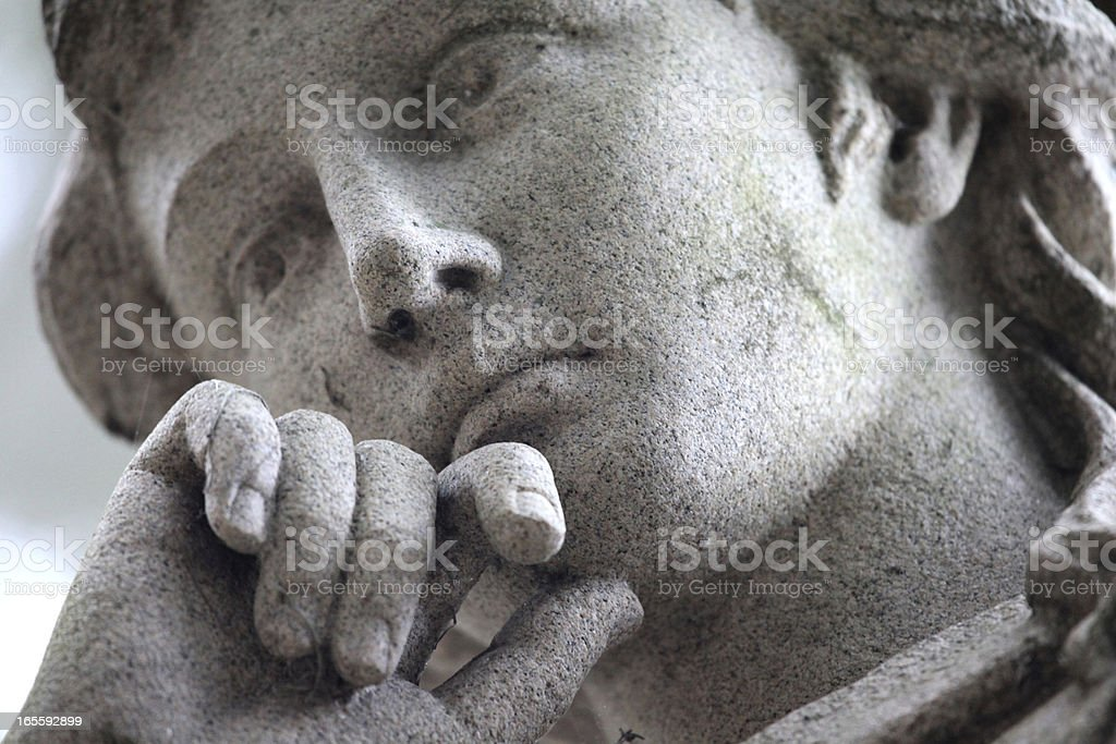 Detail on a Tombstone stock photo
