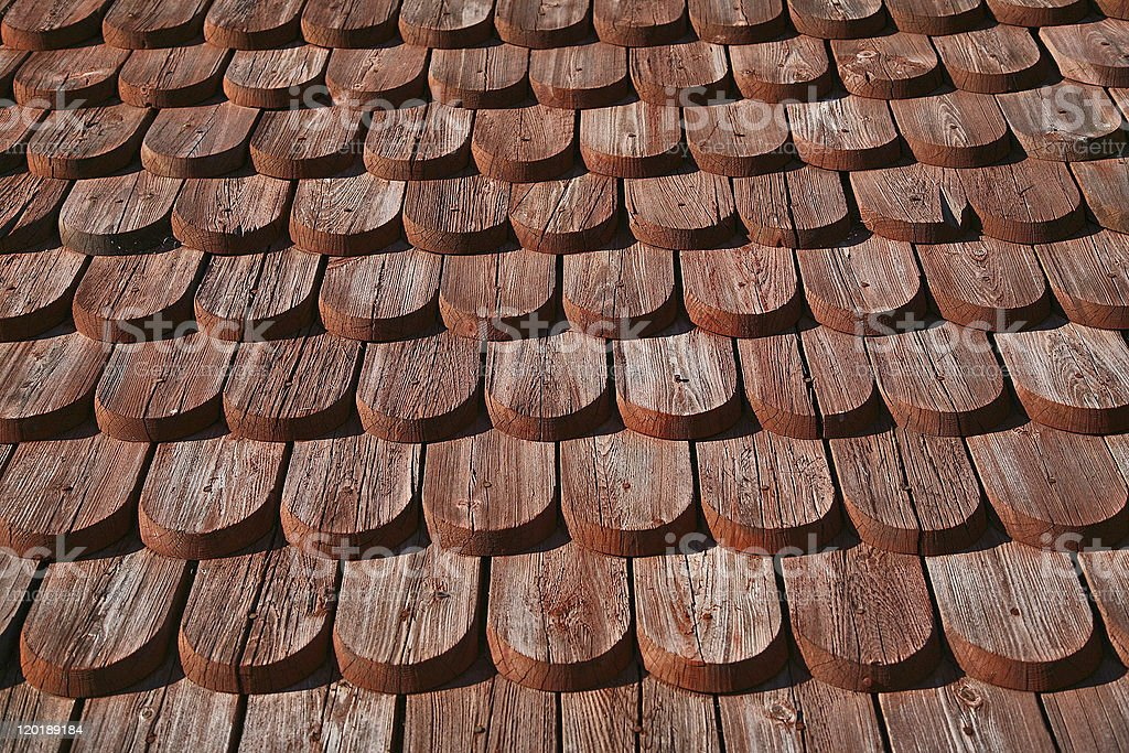 Detail on a wooden Church royalty-free stock photo
