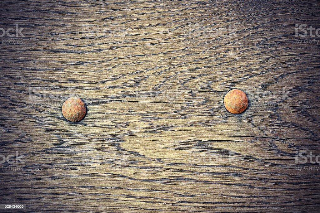 detail on old oak plank stock photo