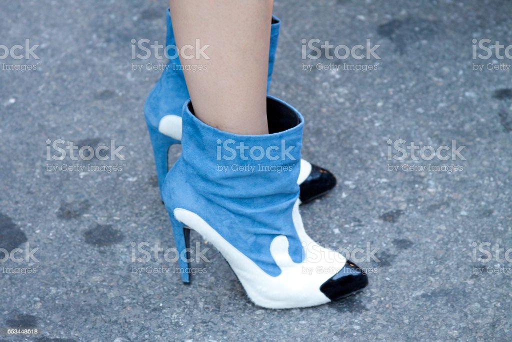 Detail on Women`s shoes stock photo