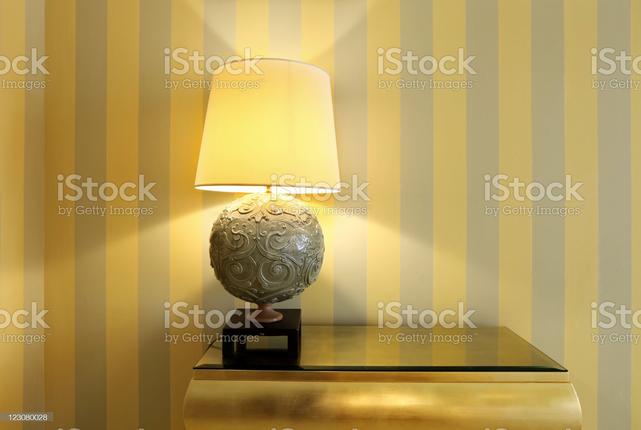 detail room, table lamp royalty-free stock photo