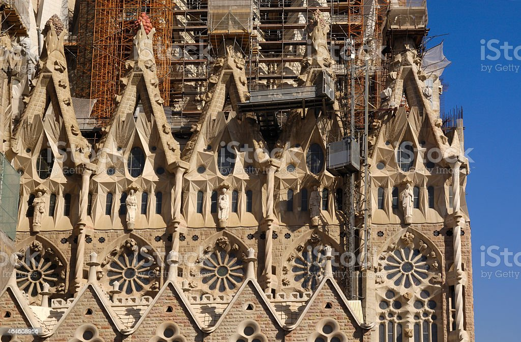 detail, Sagrada Familia, Barcelona stock photo