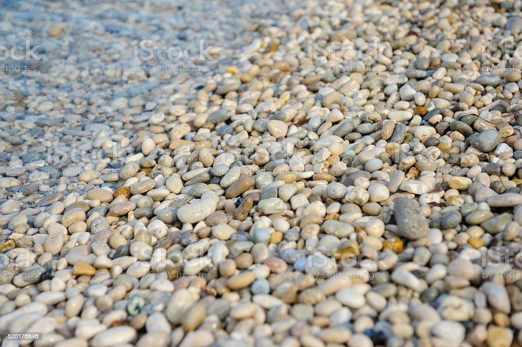 Detail shot of Limenia Beach near Poros, Kefalonia stock photo