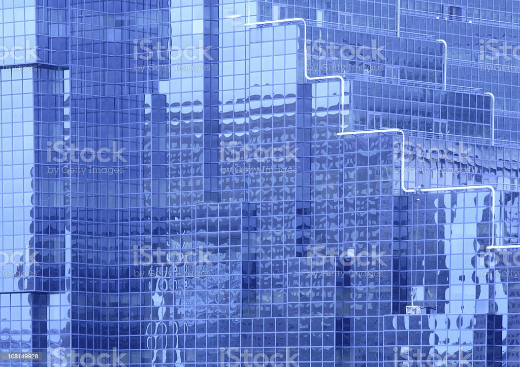 Detail Shot of Skyscraper Glass Windows stock photo
