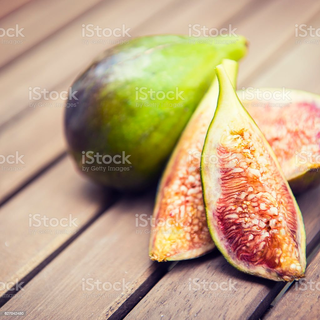 Detail shot of some delicious, organic figs stock photo