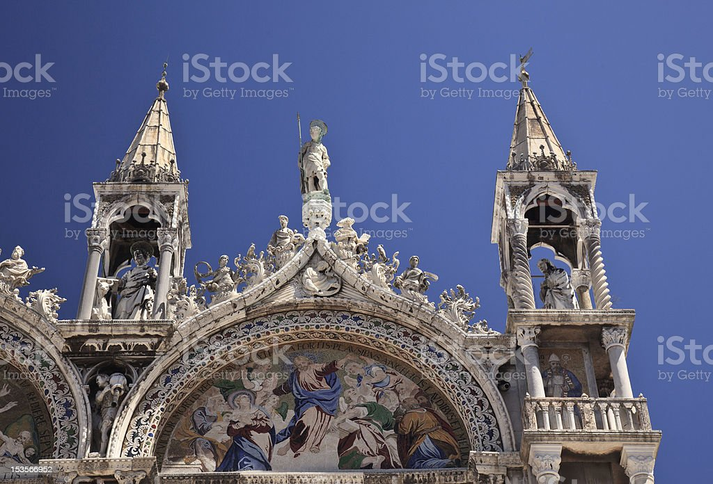 Detail St Mark's church royalty-free stock photo