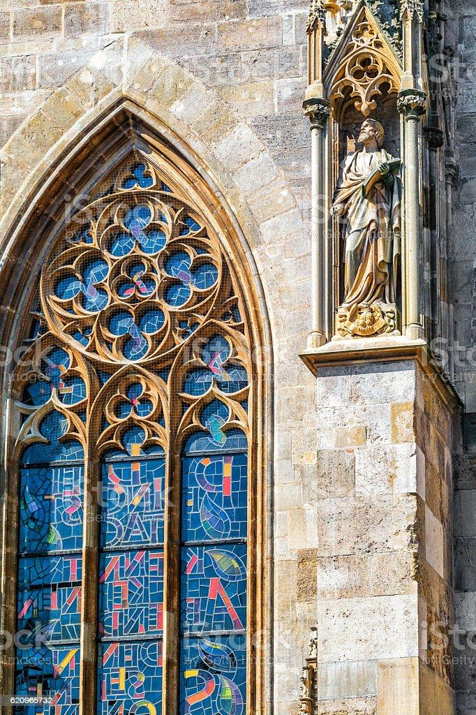Detail St. Stephen's Cathedral, Vienna.  Austria. stock photo