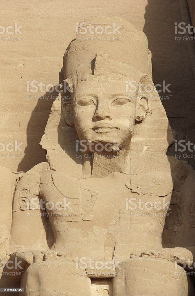 Detail Temple of Rameses II. Abu Simbel, Egypt. stock photo